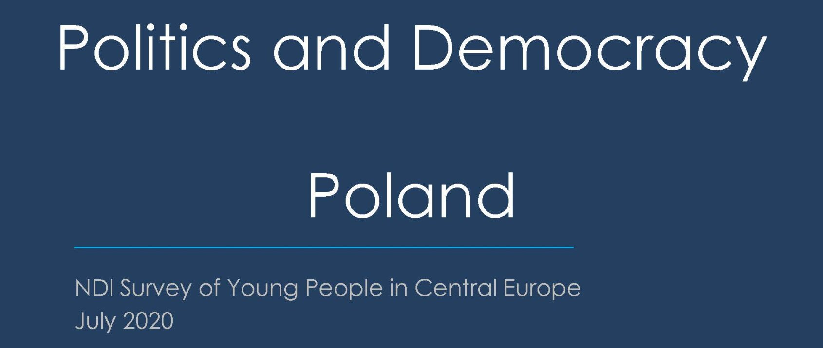 Youth Attitudes on Politics and Democracy: Poland
