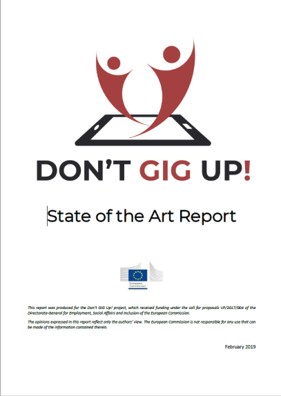 Don't GIG Up. State of the Art Report