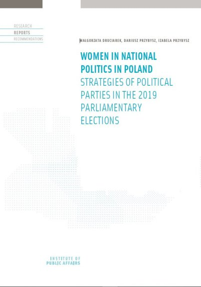 Women in national politics in Poland. Strategies of political parties in the 2019 parliamentary elections
