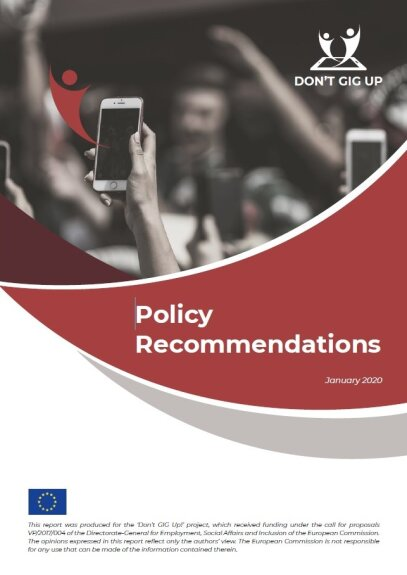 Don't GIG up! Policy Recommendations