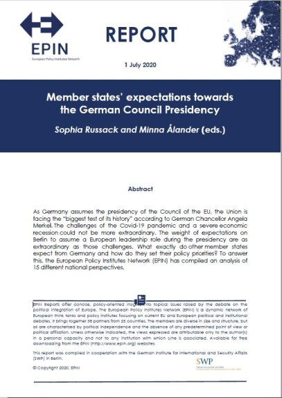 Member states' expectations towards the German Council Presidency