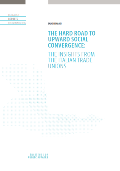 The hard road to upward social convergence: The insights from the Italian trade unions