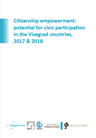 Citizenship empowerment: potential for civic participation in the Visegrad countries, 2017 & 2018